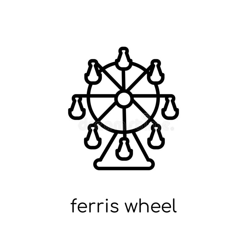 从娱乐汇集的弗累斯大转轮象 皇族释放例证