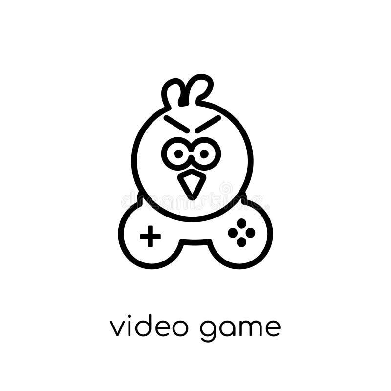 从娱乐汇集的电子游戏象 库存例证
