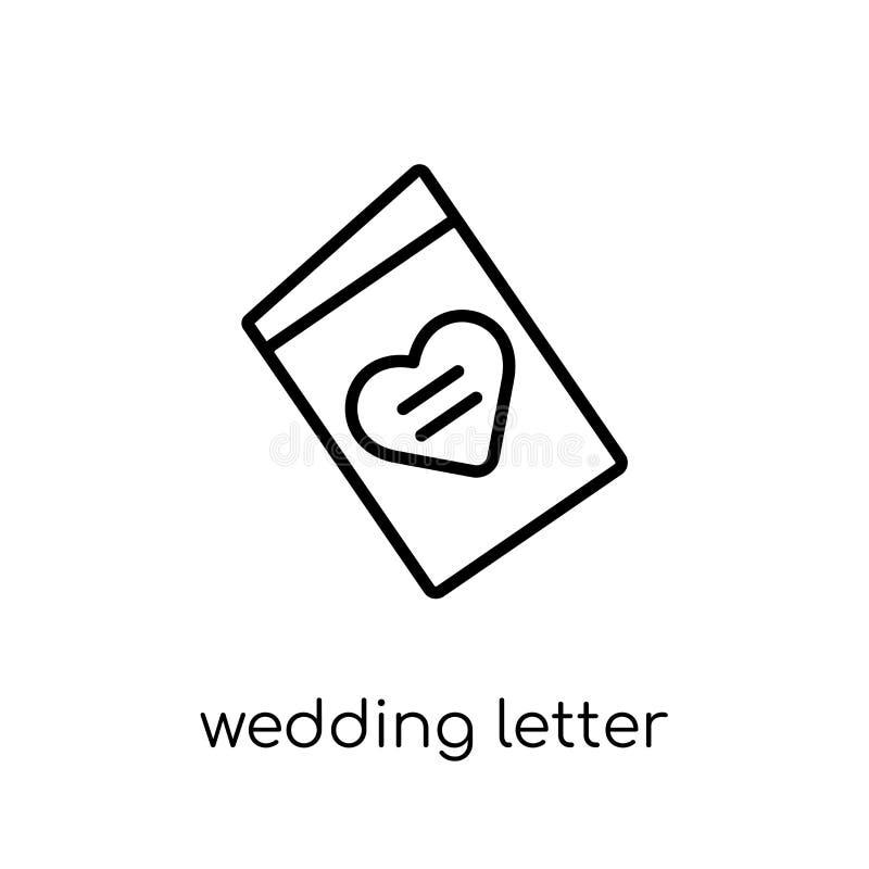 从婚礼和爱汇集的婚姻的信件象 库存例证
