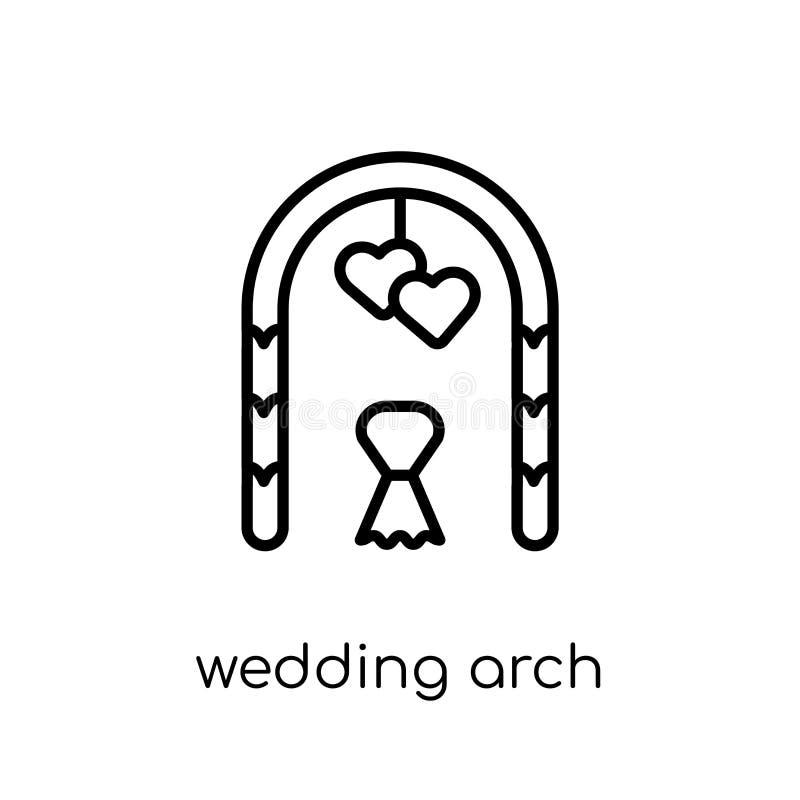 从婚礼和爱汇集的婚姻的曲拱象 皇族释放例证
