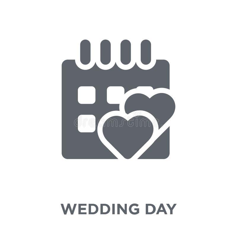 从婚礼和爱汇集的婚礼那天象 向量例证