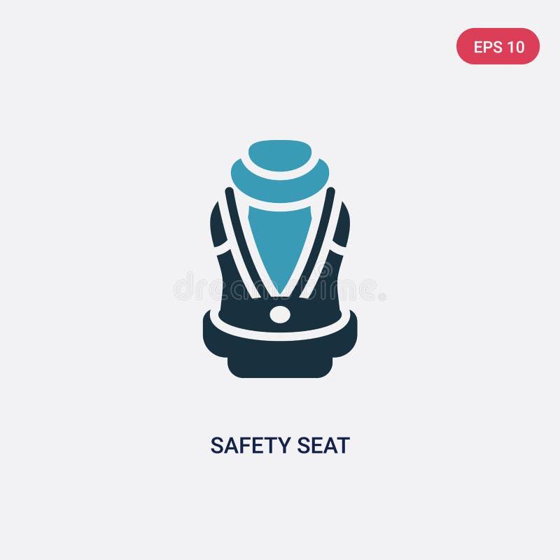 从安全概念的两种颜色的安全位子传染媒介象 被隔绝的蓝色安全位子传染媒介标志标志可以是网的,机动性用途 皇族释放例证