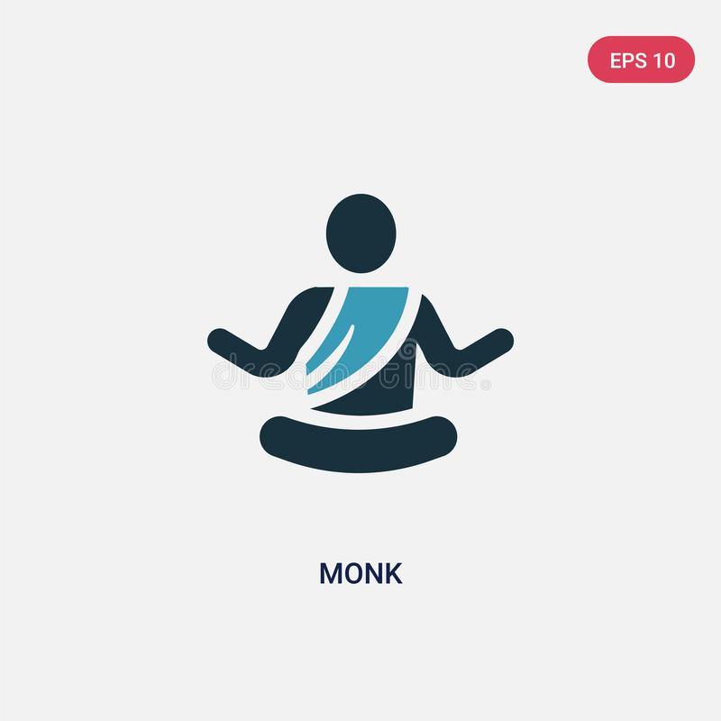 从宗教概念的两种颜色的修士传染媒介象 被隔绝的蓝色修士传染媒介标志标志可以是网、机动性和商标的用途 EPS 皇族释放例证
