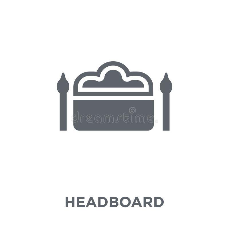 从家具和家庭汇集的床头板象 库存例证
