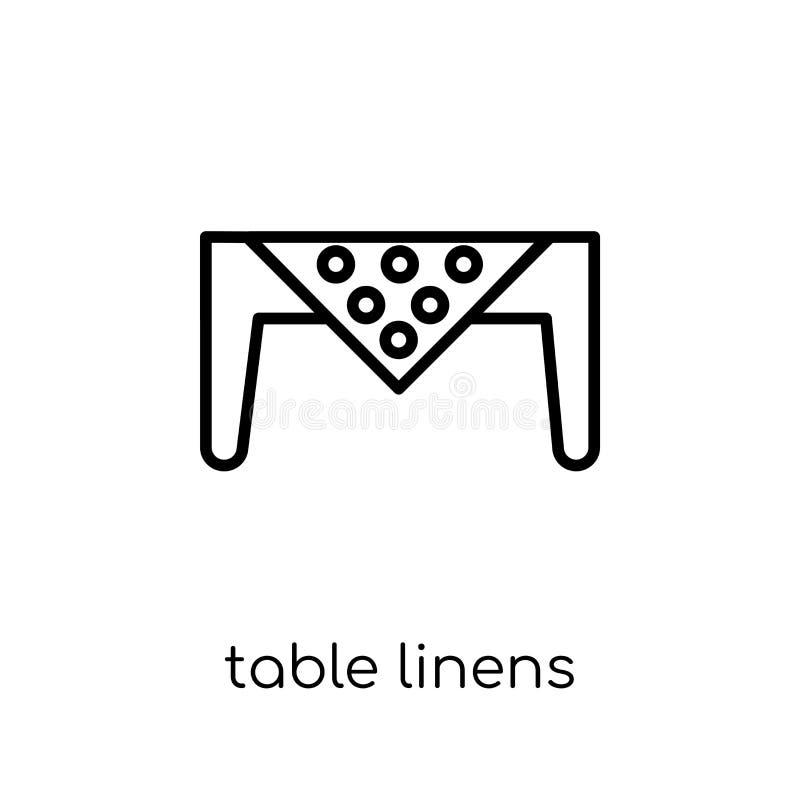 从家具和家庭汇集的餐布象 库存例证
