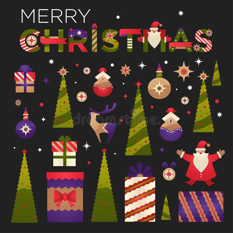 从家庭的圣诞快乐到你的,贺卡传染媒介 皇族释放例证