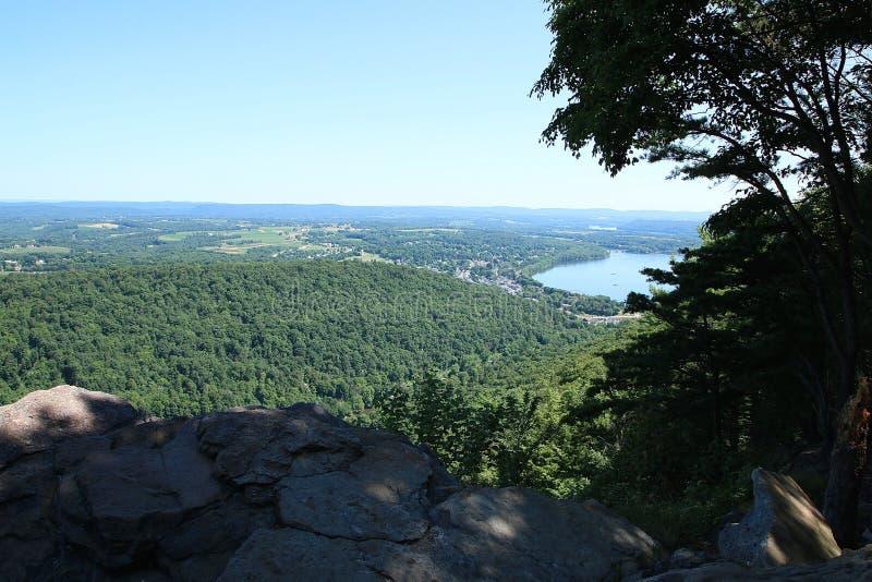 从宾夕法尼亚山上面的惊人的看法 库存图片