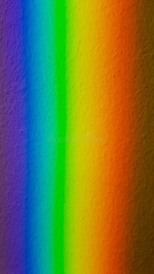 从导致彩虹棱镜作用的玻璃镜子的反射 库存照片