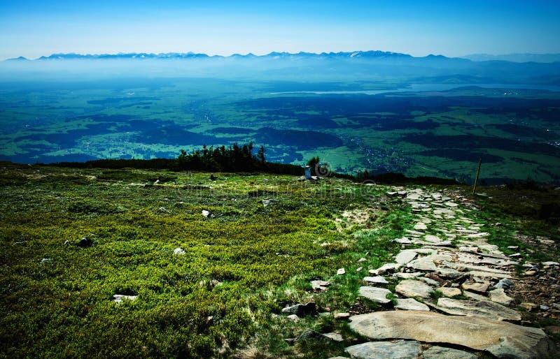 从小山的顶端看法 库存照片