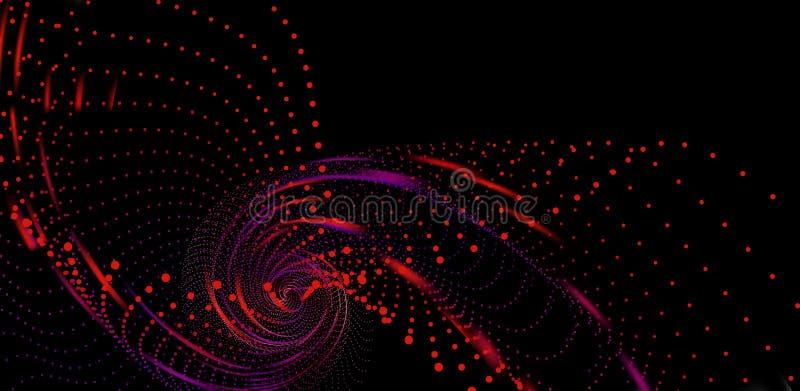 从小点结构3d海的漩涡 无限漏斗 向量例证
