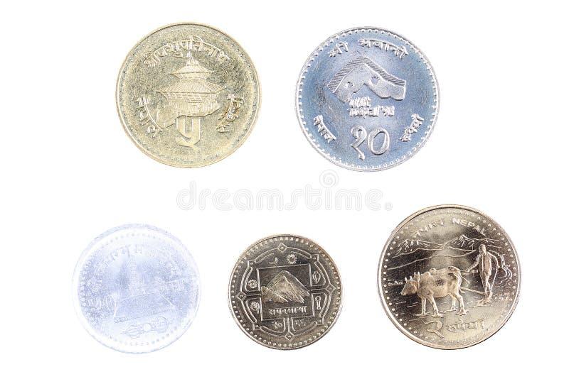 从尼泊尔的硬币 免版税库存照片