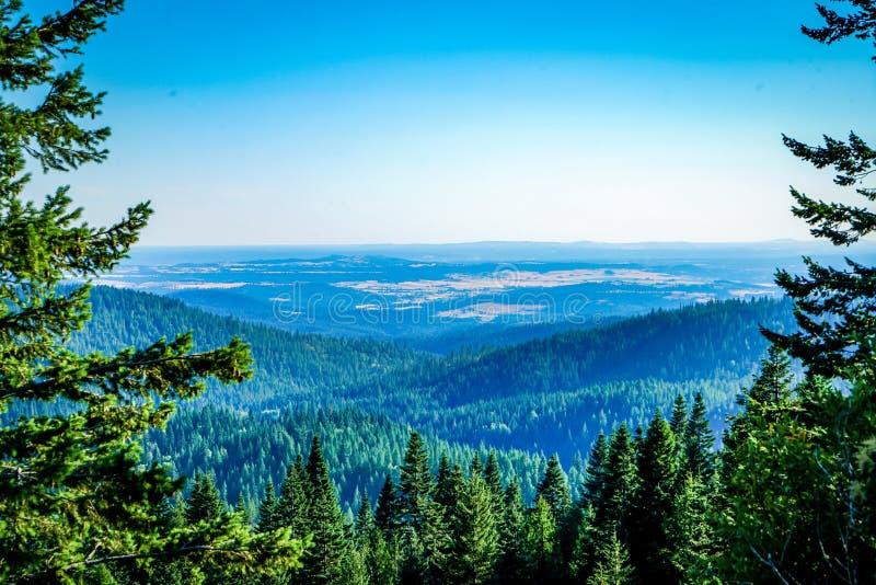 从山的一个壮观的看法 免版税库存照片