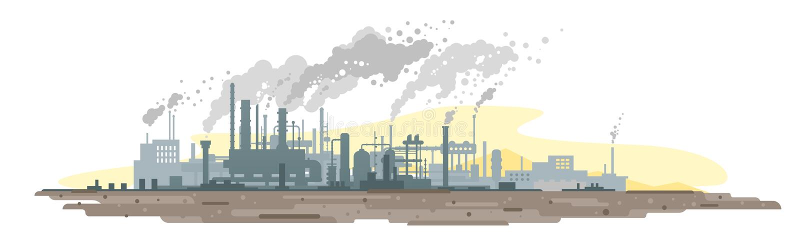 从工厂设备的大气污染 皇族释放例证