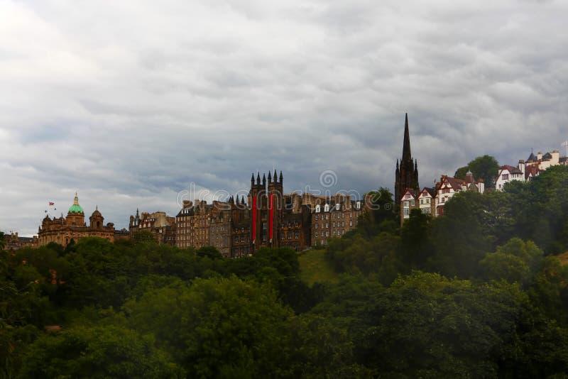 从市的看法爱丁堡,苏格兰 库存照片