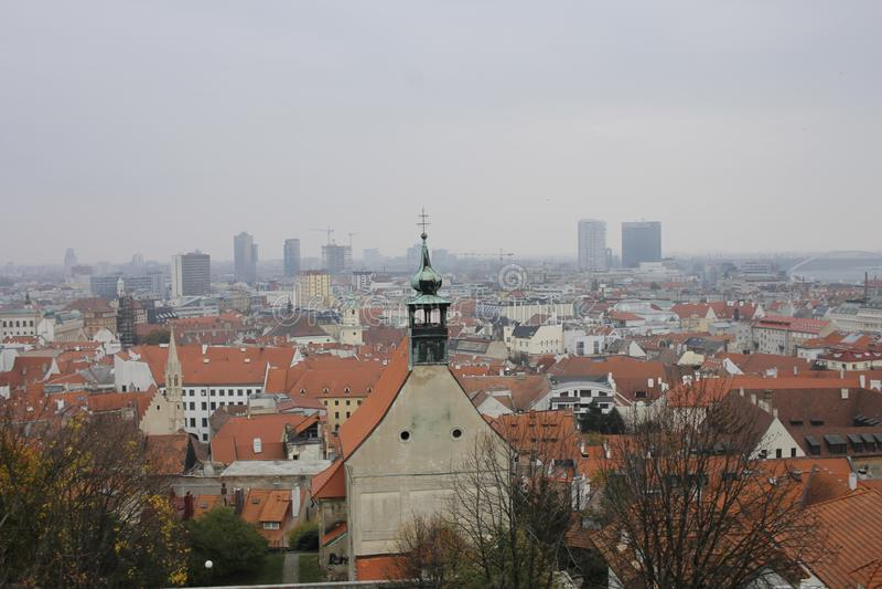 从布拉索夫城堡的看法 库存照片