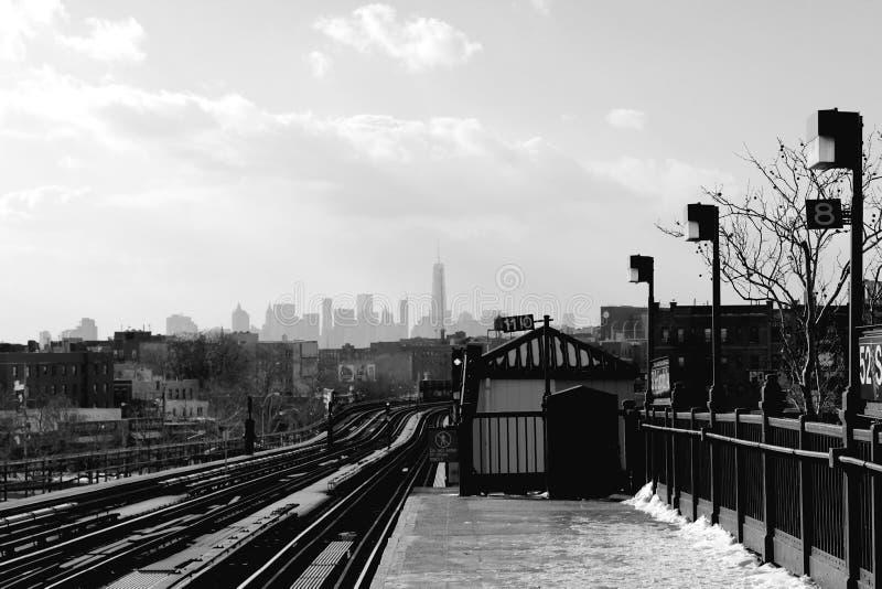 从布鲁克林Platfrom的梦想 免版税库存照片