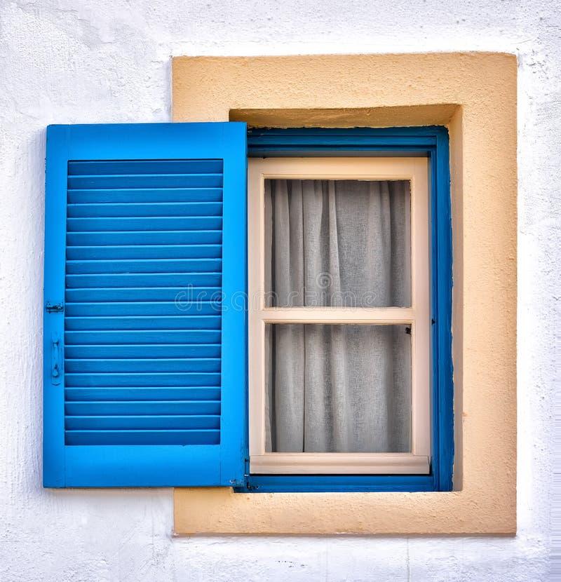 从希腊的典型的窗口 库存照片