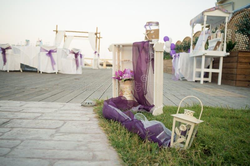 从希腊的惊人的婚礼股票摄影! 免版税库存照片