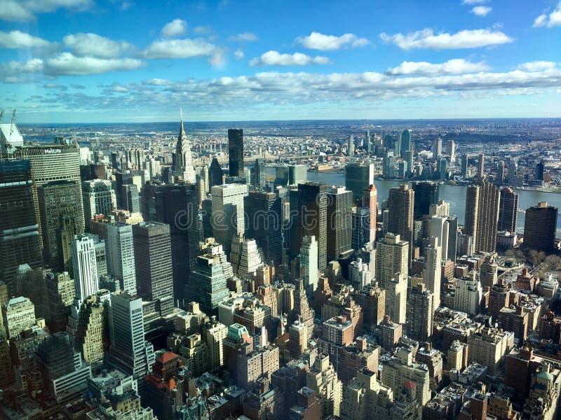 从帝国大厦的曼哈顿视图 免版税图库摄影