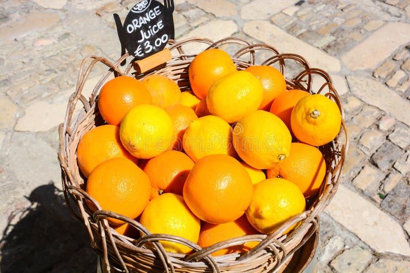 从意大利乡下的桔子 库存照片
