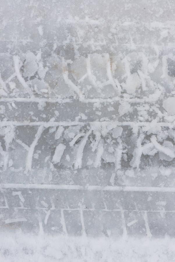 从把引入的轨道雪 close snow texture up white 库存图片