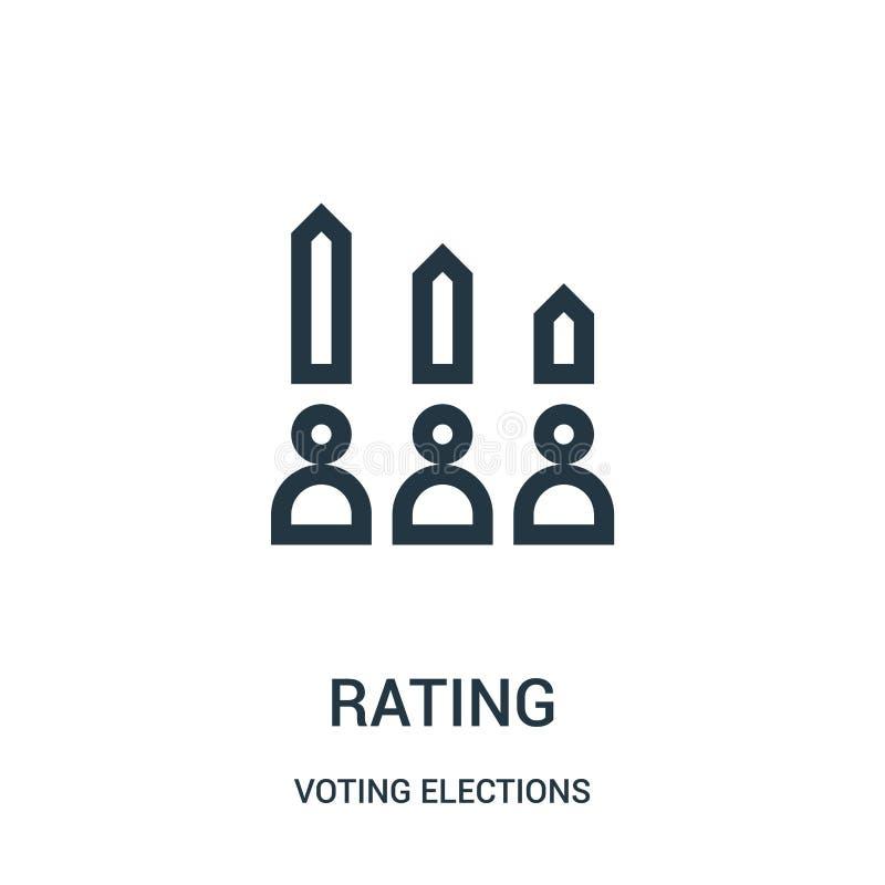 从投票的竞选收藏的对估计的象传染媒介 稀薄的线规定值概述象传染媒介例证 库存例证