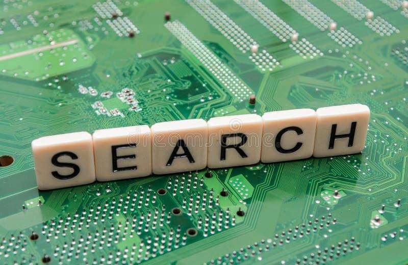 从搜索引擎询问的搜查结果,搜寻互联网 免版税库存图片