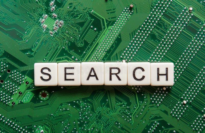 从搜索引擎询问的搜查结果,搜寻互联网 免版税库存照片