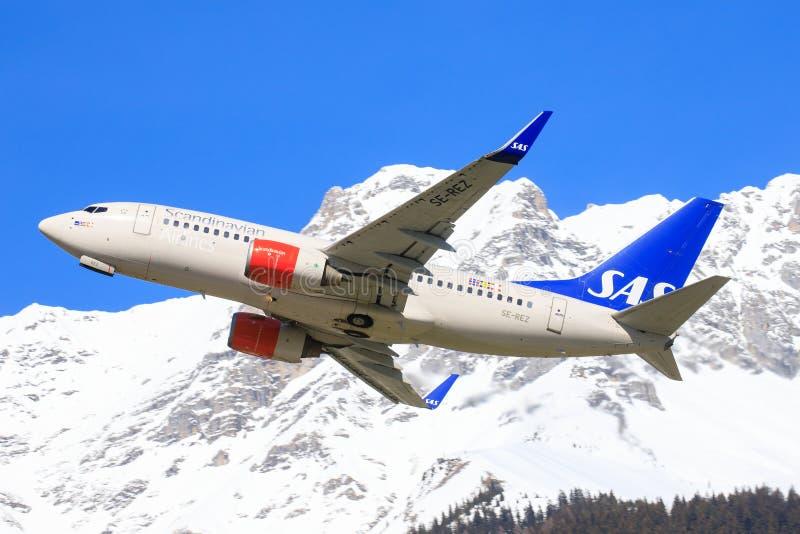 从斯堪的纳维亚语的Oeing 737 免版税图库摄影