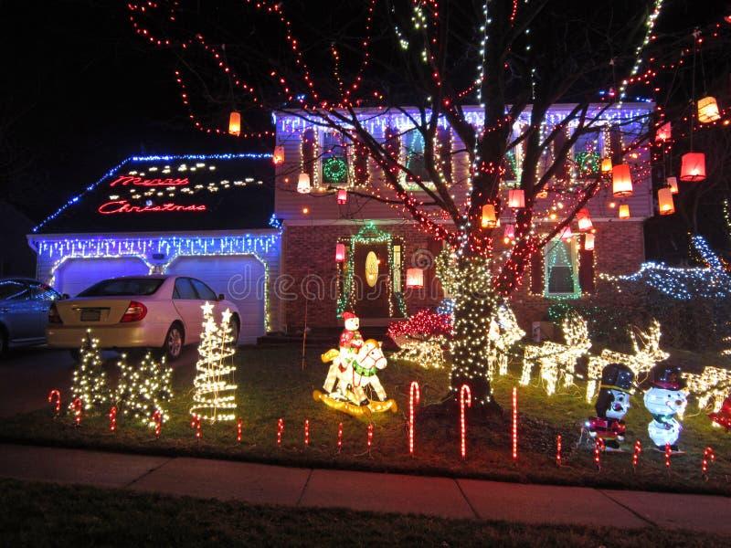 从斯普林菲尔德弗吉尼亚的圣诞快乐 免版税图库摄影