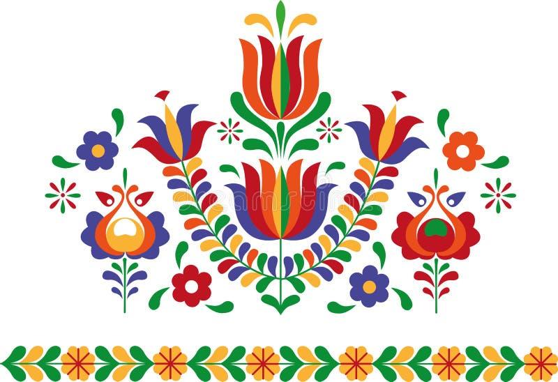 从斯洛伐克东部的民间装饰品 免版税库存照片