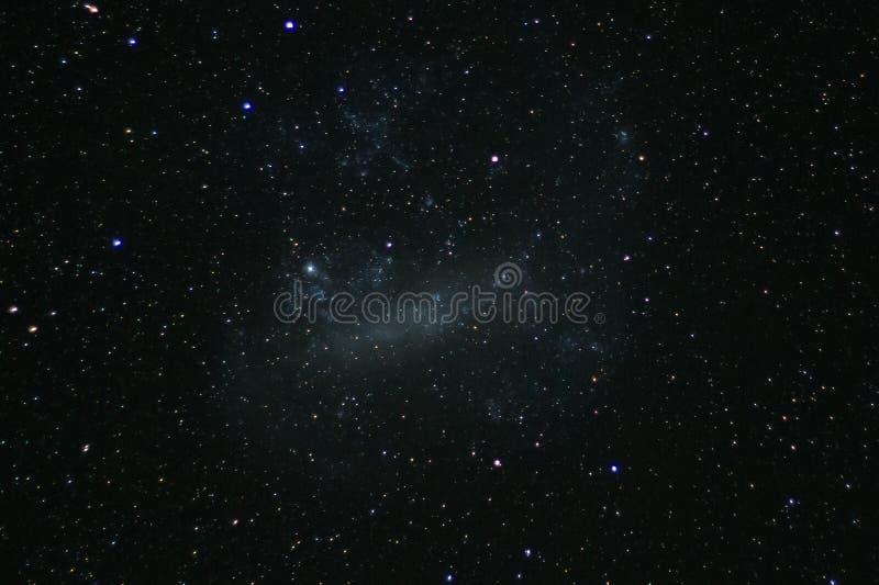 从新西兰` s国际黑暗的天空储备LMC观看的大麦哲伦星系 免版税图库摄影