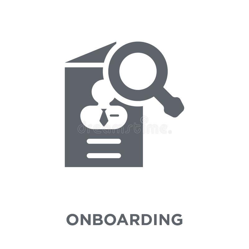 从时间managemnet汇集的Onboarding象 向量例证