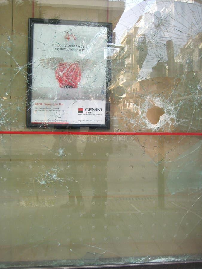 从暴乱的故障, Patra希腊 免版税库存照片
