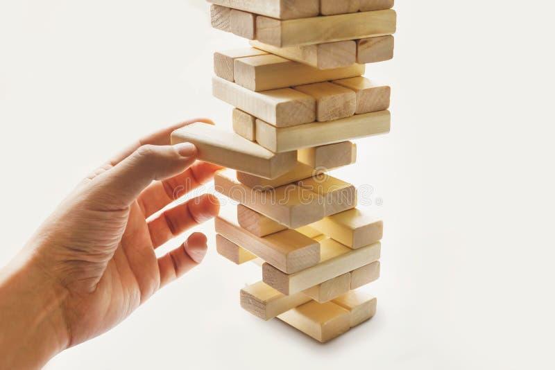 从木块的塔 免版税库存照片