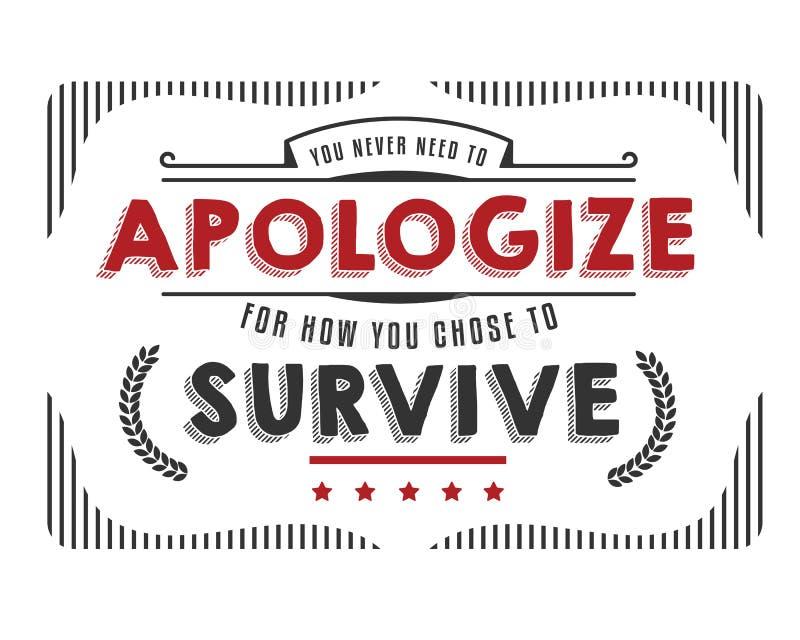 从未您道歉的neet 库存例证