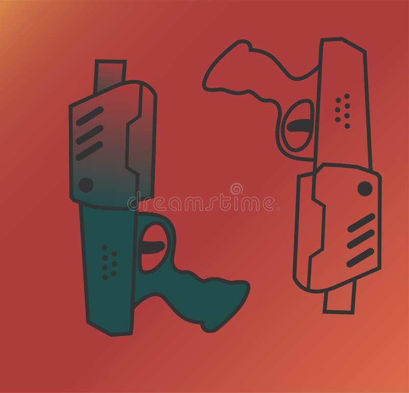 从未来的枪 向量例证