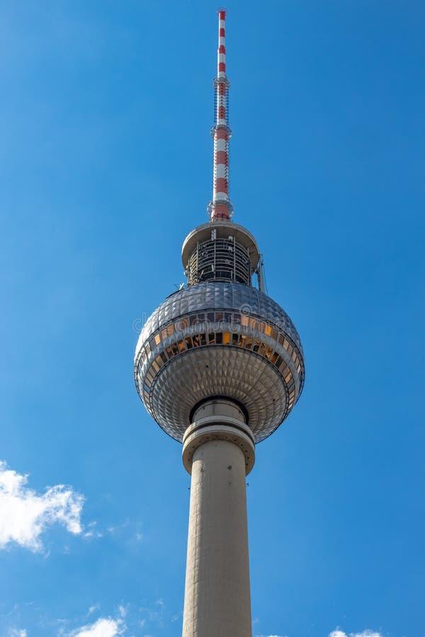 从柏林电视塔的看法 库存图片
