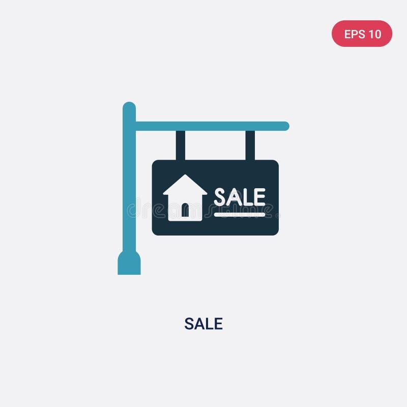 从标志概念的两种颜色的销售传染媒介象 被隔绝的蓝色销售传染媒介标志标志可以是网、机动性和商标的用途 10 eps 库存例证