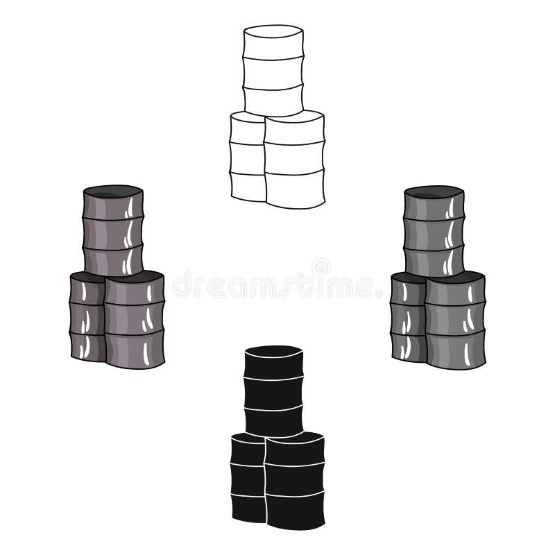 从桶象的护拦在动画片,黑样式隔绝在白色背景 迷彩漆弹运动标志股票传染媒介 向量例证
