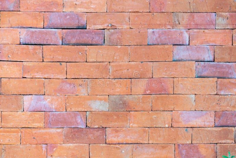 从棕色砖的墙壁 免版税库存照片