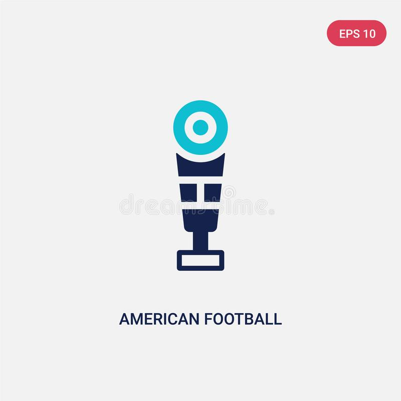 从概念的两种颜色的美式足球传染媒介象 被隔绝的蓝色美式足球传染媒介标志标志可以是网的用途, 库存例证