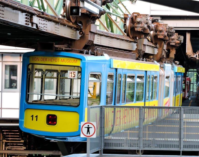 从欧洲德国的空的电车 免版税图库摄影