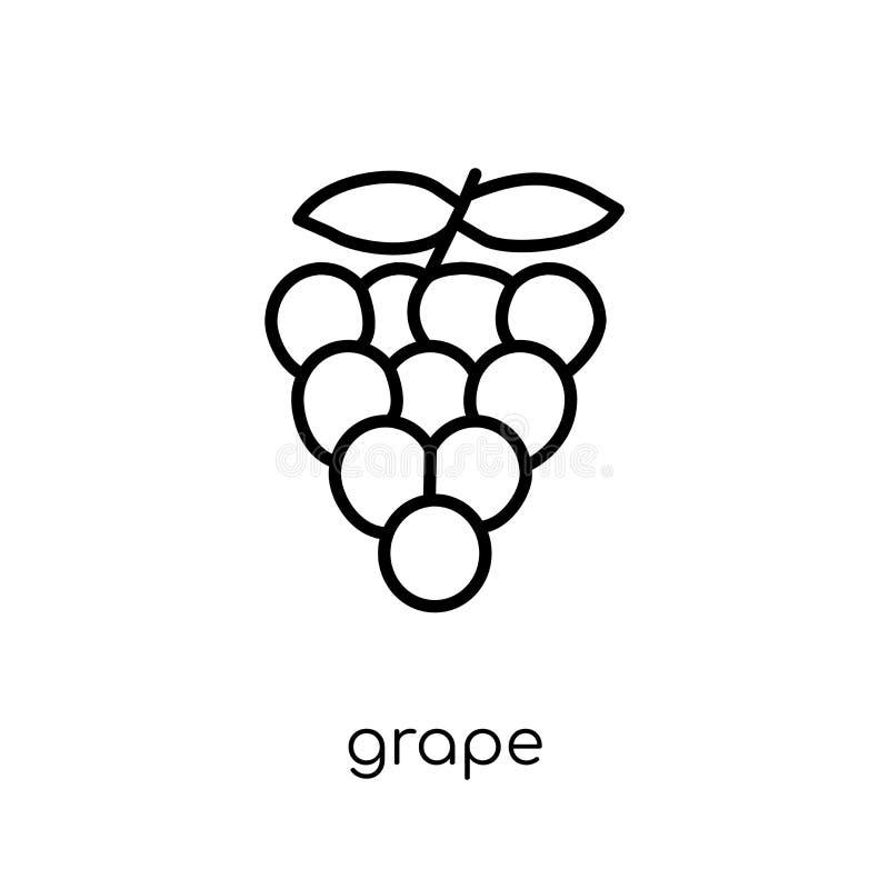 从水果和蔬菜汇集的葡萄象 皇族释放例证