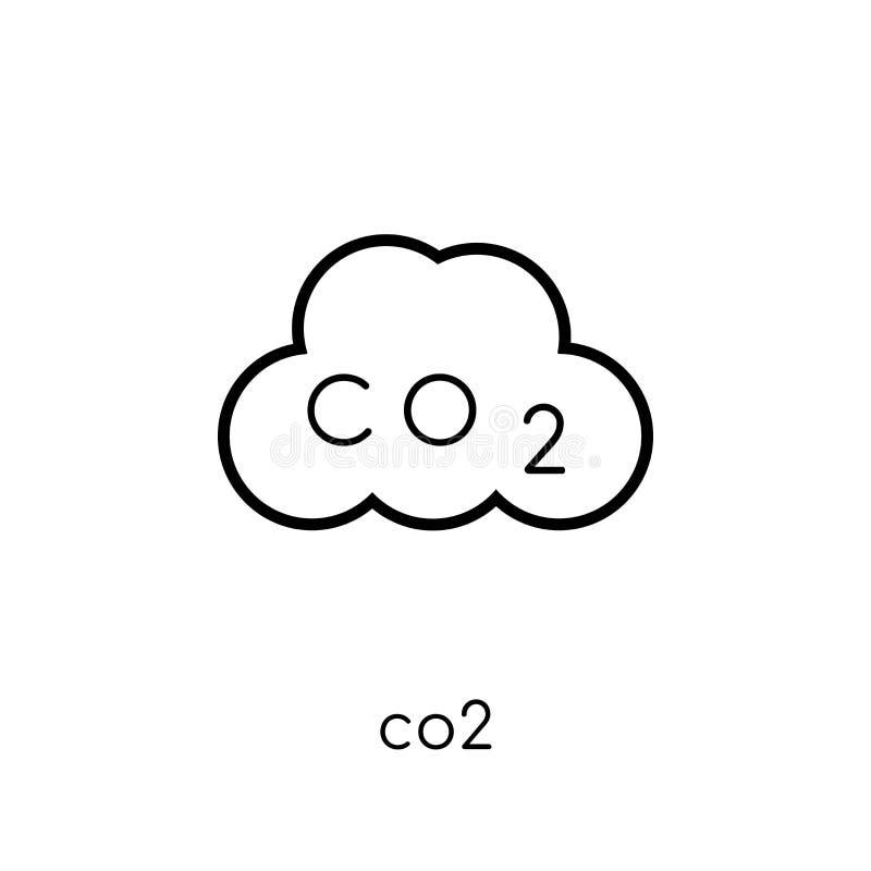 从汇集的二氧化碳象 向量例证