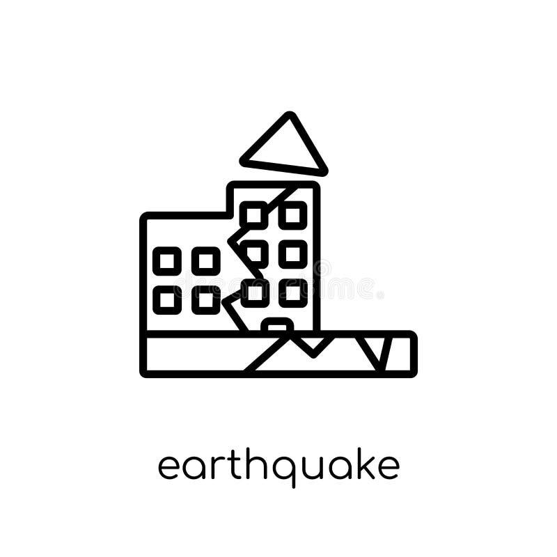 从汇集的地震象 皇族释放例证