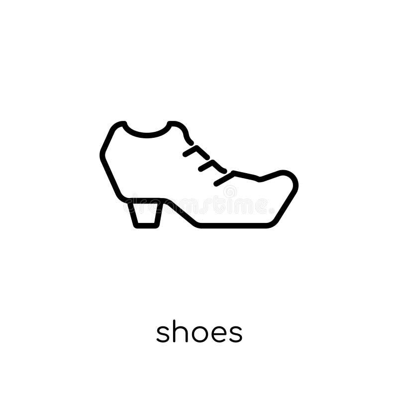 从汇集的鞋子象 向量例证