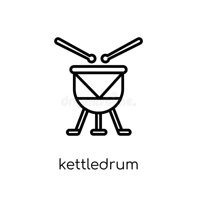 从汇集的Kettledrum象 向量例证