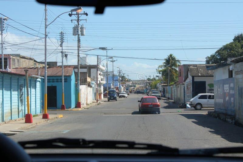 从汽车拍的照片在Cumana市 免版税库存照片