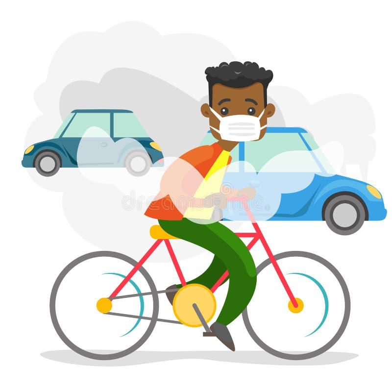 从汽车的二氧化碳排放造成的大气污染 皇族释放例证
